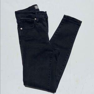 "Madewell 9"" High-Rise Grey Skinny Jeans"